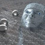 Head in plasma - 3D — Stock Photo
