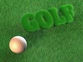 Golf - Golf Ball - Background - 3D — Stock Photo