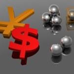 Yen - Dollar - 3D — Stock Photo