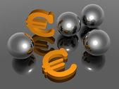 Euro symbol - 3D — Stock Photo