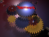 Teamwork - Gear- 3D — Stock Photo