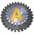 Stock Photo: Alphabet - Gear - Letter A