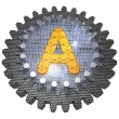 Foto Stock: Alphabet - Gear - Letter A