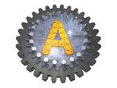 Letra do alfabeto - engrenagem - uma — Foto Stock