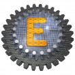 Stock Photo: Alphabet - Gear - Letter E