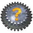 Stock Photo: Alphabet - Gear - question mark