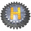 Alphabet - Gear - Letter H — Stock Photo