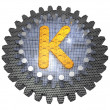 Stock Photo: Alphabet - Gear - Letter K