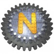Stock Photo: Alphabet - Gear - Letter N