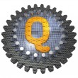 Stock Photo: Alphabet - Gear - Letter Q