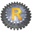 Stock Photo: Alphabet - Gear - Letter R