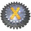 Stock Photo: Alphabet - Gear - Letter X