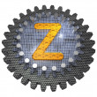 Stock Photo: Alphabet - Gear - Letter Z