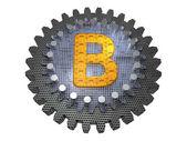 Abeceda - gear - písmeno b — Stock fotografie