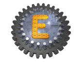 Alphabet - Gear - Letter E — Stock Photo