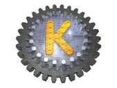 Alphabet - Gear - Letter K — Stock Photo