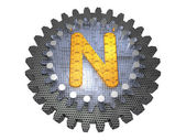 Alphabet - Gear - Letter N — Stock Photo