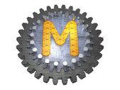Alfabeto - gear - letra m — Foto de Stock