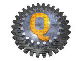 Alphabet - Gear - Letter Q — Stock Photo