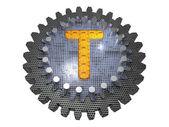 Alphabet - Gear - Letter T — Stock Photo