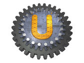 Alphabet - Gear - Letter U — Stock Photo