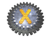 Alphabet - Gear - Letter X — Stock Photo