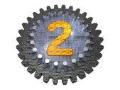 Alphabet - Gear - number 2 — Stock Photo