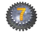 Letra - engrenagem - número 7 — Foto Stock