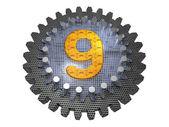 Alphabet - Gear - number 9 — Stock Photo