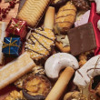 Christmassy biscuit mixture — Stock Photo
