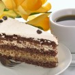 Mocha cream cake — Stock Photo
