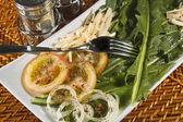 Dandelion salad — Stock Photo
