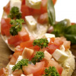 Bruschetta starter — Stock Photo