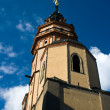 Tower of the church nikolaikirche — Stock Photo