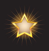 Gold star form frame — Stock Vector