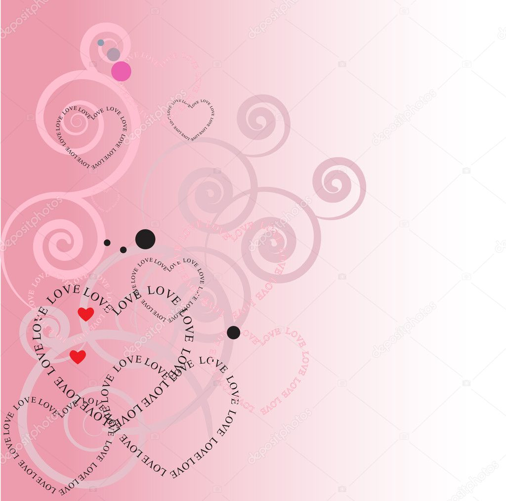 Abstract background with hearts   Stock Vector #2443654