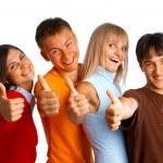 przyjaciele szczęśliwy — Zdjęcie stockowe