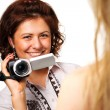 Womwith video camera — Stock Photo #2670052