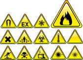Real hazards safety sign - part 1/4 — Stock Vector