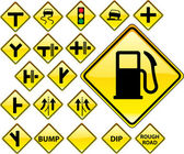 Road Signs YELLOW series — Stock Vector
