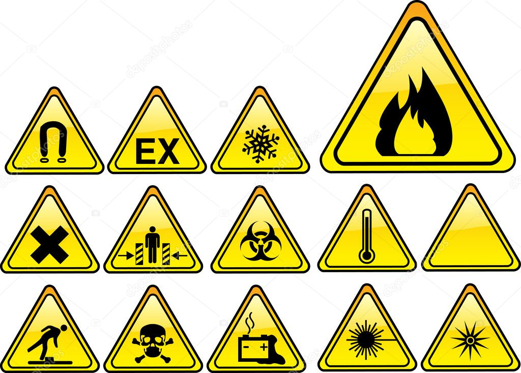 Real hazards safety sign - part 1/4 — Stock Vector #2351397