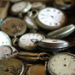 Antique pocket watches — Stock Photo