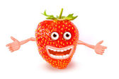 Cartoon strawberry. Objects over white. — Stock Photo