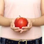 haben Sie einen Apfel — Stockfoto