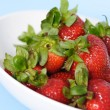 A bowl of strawberries — Stock Photo