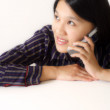 Busy businesswoman — Stock Photo