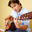 Stock Photo: Guitar player