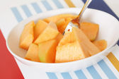 Cantaloupe slices — Stock Photo