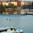 Vltava river in Prague - Stock Photo