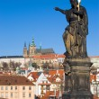 Prague castle and St. John the Baptist — Stock Photo